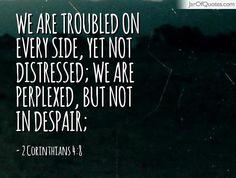 2 Corinthians 4:8