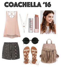 """Coachella '16"" by amela-meredith ❤ liked on Polyvore featuring Glamorous, Dorothy Perkins, Billabong, REGALROSE and Stila"