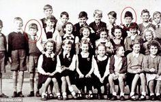 La primera foto de Mick Jagger  y Keith Richards juntos: foto de clase en la escuela primaria de Wentworth, en Dartford, 1951.