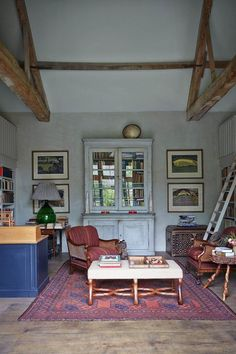 """Book Cottage Emma Burns House & Garden magazine * Emma says, """"This place used to be a glorified garden shed, and though it seemed daft to have so much space and not do anything with it, we couldn't decide what. Then we moved from our old house in London into a much smaller one and ended up with all these books sitting in storage, so we decided to make it into a book room."""""""