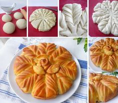 Awesome Food: Bread with Rose Pie Crust Designs, Bread Recipes, Cooking Recipes, Do It Yourself Food, Bread Shaping, Bread Art, Braided Bread, Bulgarian Recipes, Bread And Pastries