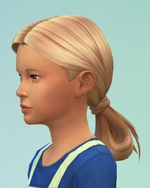 The Sims 4 | birksches Scientist Lowloop hairstyle converted hairs for female child