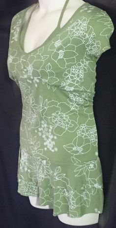 Peplum Short Sleeve Top size 3x Olive Green Layered Look Cute back #OneStepUp #KnitTop #Casual $16