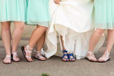 Lace and Blue. Strappy #Sseko sandals, perfect for bridesmaids! #wedding #lace #ethical #fairtrade #somethingblue
