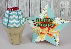 Ice Cream Cone Gift Box & Card