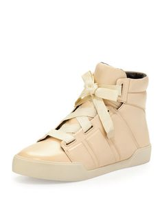 Morgan Leather High-Top Sneaker, Porcelain by 3.1 Phillip Lim at Neiman Marcus.