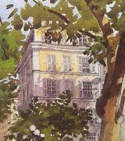 SAINT GERMAIN Maison RIVE GAUCHE PARIS Watercolor Print Restoration Hardware Art