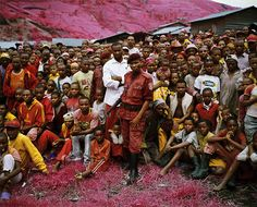 """""""Quick"""", a series of photos from Eastern Congo, by Richard Mosse. Shot with Kodak Aerochrome infrared film"""