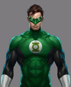 Hal Jordan_The Green Lantern Green Lanterns, Batman Green Lantern, Green Lantern Hal Jordan, Green Lantern Corps, Dc Comics Superheroes, Dc Comics Characters, Dc Comics Art, Marvel Dc Comics, Marvel Avengers