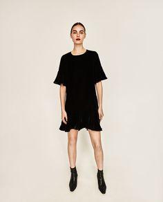 FRILLED VELVET DRESS-DRESSES-WOMAN | ZARA United States