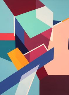 Mauricio Contreras-Paredes from Guatemala  #abstract #painting #geometric