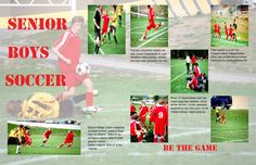 Yearbook spreads | Jordans Photography: Yearbook Spread: Senior Boys Soccer