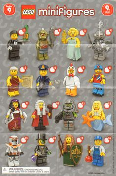 A visual guide and checklist for  Lego Blind  Pack  Minifigure Series' 1-17 and other sets .   From newest to oldest. Updated 9/21...