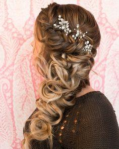 Half up Half down with Braids hairstyle #hairstyles #wedding #weddinghair #bridalhairstyles