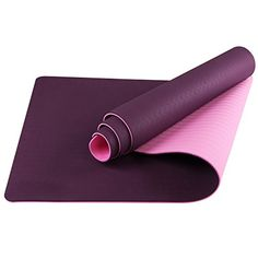 LHOTSEX 6mm 14Inch Non Toxic Yoga Accessories with Strap  Purple >>> Be sure to check out this awesome product.(This is an Amazon affiliate link and I receive a commission for the sales)