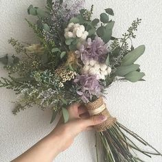 Destination Wedding Event Planning Ideas and Tips Dried Flower Bouquet, Dried Flowers, Purple Wedding, Wedding Flowers, Wedding Guest Book, Wedding Table, Wedding Ideas, Bride Bouquets, Brides And Bridesmaids