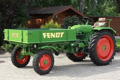 Old Fendt F231 GT tractor from 1967 with 32 hp.  More antique tractors: http://www.oldtimerplus.de