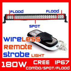 (209.99$)  Watch here  - 31.5'' inch 180w LED Light Bar Wireless Remote with Strobe Light Function ATV Tractor Offroad Fog Light Worklight Save on 240w