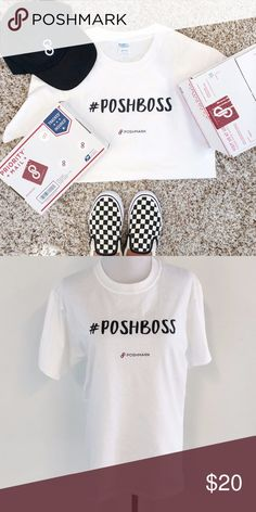 #PoshBoss Tee Are you a #POSHBOSS? Strut in Style when dropping off your Posh Packages. This light weight tee is a closet staple. NWOT Poshmark Tops Tees - Short Sleeve