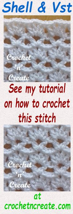 Free written tutorial for shell and vst, use for blankets, baby items and for the home. #crochet