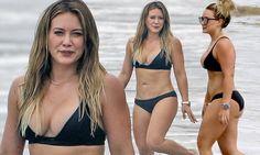 Hilary Duff reveals spectacular body in skimpy black bikini Hillary Duff Body, Hilary Duff Bikini, Hilary Duff Style, Bikinis, Swimwear, Beautiful Celebrities, Beautiful Ladies, Jolie Photo, Bikini Pictures