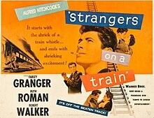 1951 film releases Strangers on a Train, directed by Alfred Hitchcock, starring Farley Granger and Robert Walker Ruth Roman, Ingrid Bergman, Alfred Hitchcock, Robert Dalban, Robert Walker, Karen Woodward, Patricia Highsmith, Train Movie, Farley Granger