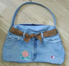 Reuse Your Old Jeans with These Great Sewing Projects: Free Directions to Sew a Bum Bag From Old Jeans
