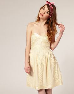 ASOS Embroidered Prom Dress