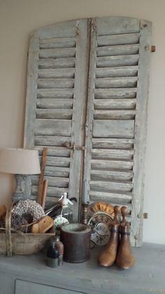 GoedGevonden... Oude louvre deuren , op aanvraag mbt maat en kleur.