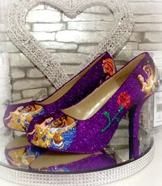 2df371694c32 Beauty and the beast shoes custom wedding prom cosplay women s shoes