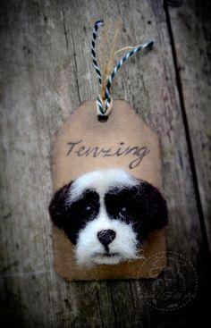 Needle felted 'Tenzing' brooch by Olive's Felt Art