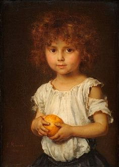 A Child, 1866 (Ludwig Knaus) (1829-1910) Düsseldorfer Auktionhsaus