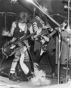 L7: Cover of self titled Epitaph release    Photographer unknown, live at the Music Machine in West Los Angeles circa 1988