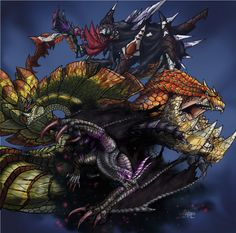 spider,snake,frog and the juvenile by LynxKano on DeviantArt