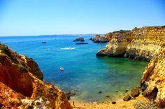 Marvellous scenic coastline - Algarve, Portugal (photo by Gerhard Böpple) - http://www.ealgarve.com/