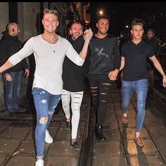 Scotty T in our Ripped & Repaired Jeans with Aaron and Nathan in our Super Ripped Jeans After Filming series 12 of Geordie Shore ✌️ heralondon.com #geordieshore #heralondon
