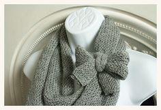 grey eternity scarf with bow