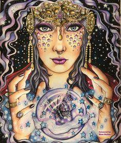 Hanna Karlzon/ Magical Dawn/ colouring book/ coloring book/ Prisma pencils/ Ness Butler/ @forestlovecolouring/