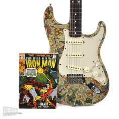 Iron Man comics guitar finish