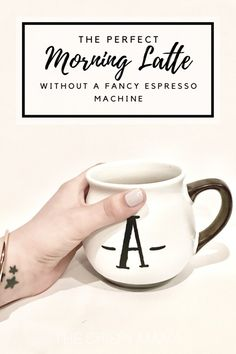 How To Make The Perfect Morning Latte (Without a Fancy Espresso Machine) Using a French Press and a Mason Jar | via The Crispy Mama