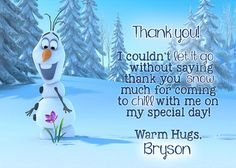 Hey, I found this really awesome Etsy listing at https://www.etsy.com/listing/210741801/olaf-thank-you-card-frozen-thank-you