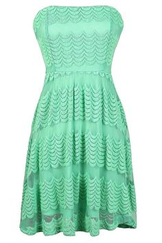 Cute strapless dress in #mint - love the detailed texture! So fun for lots of occasions like a wedding, party, concert, dance, date, vacation, and more!