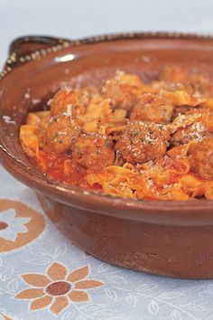 Nigella- There is nothing like serving up a bowl of pasta with meatballs to make you feel like an Italian mamma out of a Hollywood film.
