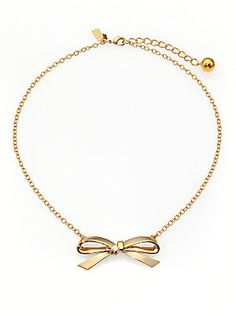Kate+Spade+New+York Finishing+Touch+Bow+Necklace