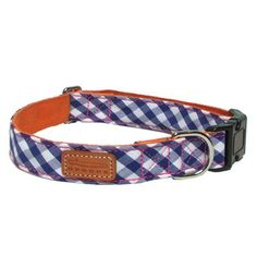 Olive - George Blue Gingham Collar - Collars for Dogs