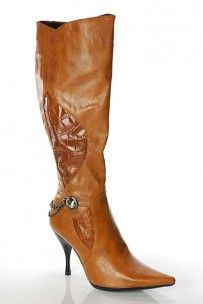 Tan Croc Boots with heel   #boots  http://www.finditforweddings.com