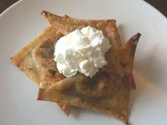 Pumpkin Pie Wontons from Food.com:   This recipe won first place in the Vegetarian Times reader's Thanksgiving recipe contest.