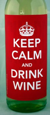 KEEP CALM AND DRINK WINE - Personalised wine label