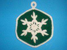 Ravelry: Snowflake Potholder #1 C-130 pattern by Terry Hofman $$ pattern