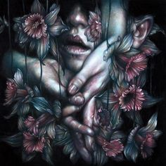 """""""The Rescue"""" 2015, colored pencils on paper by beautiful.bizarre issue 001 featured artist Marco Mazzoni <3"""